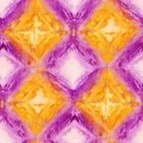 Tie Dye Background. Seamless tie-dye pattern of yellow and purple color on white silk. Hand painting fabrics - nodular batik. Shibori dyeing stock illustration