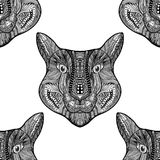 Seamless Tiger pattern Stock Photo