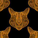Seamless Tiger pattern Stock Images