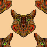 Seamless Tiger pattern Royalty Free Stock Images