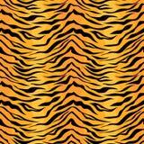 Seamless tiger stripe pattern. Vector animal skin background print royalty free illustration