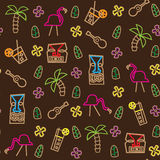 Seamless Tiki Hawaii Pattern Stock Image