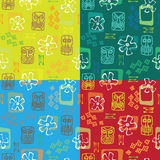 Seamless  Tiki pattern x 4 Royalty Free Stock Photo