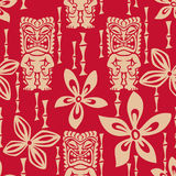 Seamless Tiki Tapa Pattern vector illustration