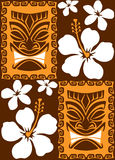 Seamless Tiki Tiles. Illustration of a seamless Luau Tiki pattern tile. Tile can be dragged and dropped into Illustrator's swatches palette Royalty Free Stock Photos