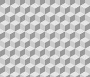 Seamless tilable gray isometric cube pattern Royalty Free Stock Photography