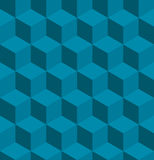 Seamless tilable isometric cube pattern. A seamless tilable blue isometric cube pattern. Designed to look at its best when tiled Stock Photography