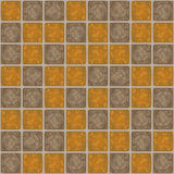 Seamless Tile Background. Illustration of seamless tile background in earthy colors Stock Photos