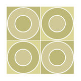 Seamless tile with beige circles Royalty Free Stock Photography
