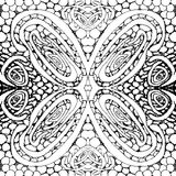 Seamless tile with a black and white pattern. Vector illustration. Hand drawing Stock Photography