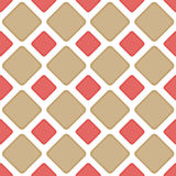 Seamless tile brick diamonds backgound pattern. Sand and cayenne brick diamonds or squares geometric pattern. Seamless Tile Stock Images