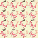 Seamless tile butterfly background Stock Photos