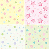 Seamless tile childrens backgrounds Royalty Free Stock Photography