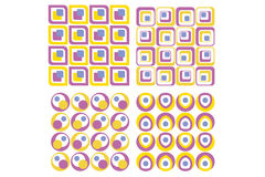 Seamless tile collection. Various geometrical figures set of backgrounds royalty free illustration