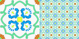 Seamless tile decoration in old sicilian style Stock Photography
