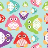 Cute Patterned Penguins Seamless Pattern. A seamless tile of fat, cartoon, vector penguins. These cute little guys can be used for a variety of projects Stock Images