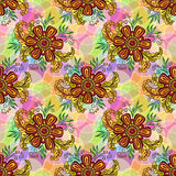 Seamless Tile Floral Pattern Royalty Free Stock Photo