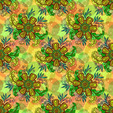 Seamless Tile Floral Pattern Royalty Free Stock Photography