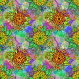 Seamless Tile Floral Pattern Stock Image