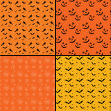 Seamless tile Halloween backgrounds Stock Images