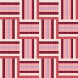 Seamless tile-like abstract geometric pattern design. Geometric seamless pattern. Design elements. Tile-like abstract mosaic background. Sketch in pink, red Royalty Free Stock Photography