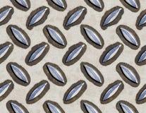 Seamless tile metal sheet Stock Image