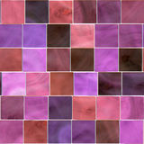 Seamless Tile Mosaic. Colorful seamless background mosaic design of shiny tile boxes or cubes in pink and purple  tones. Can be tiled seamlessly Royalty Free Stock Photo