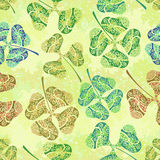 Seamless Tile Ornament, Clover Plants Royalty Free Stock Photo