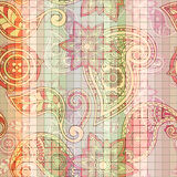 Seamless tile  paisley pattern Stock Photo