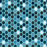 Seamless tile pattern. Hexagon tiles. Seamless blue pattern Royalty Free Stock Photo