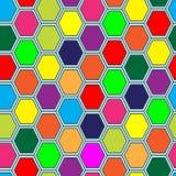Seamless tile pattern. Hexagon tiles. Seamless vivid pattern Stock Photo