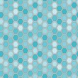 Seamless tile pattern. Hexagon tiles. Seamless blue pattern Stock Photos