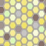 Seamless tile pattern. Hexagon tiles. Seamless brown pattern Royalty Free Stock Photo