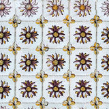 Seamless tile pattern of ancient ceramic tiles Stock Photography