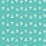 Seamless tile pattern. Blue 3d triangle tiles - seamless vector pattern Royalty Free Stock Photo
