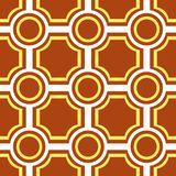 Seamless tile pattern. Seamless pattern with brown tiles Stock Photography