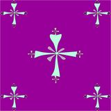 Seamless tile pattern of  Coptic crosses Royalty Free Stock Photo