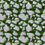 Seamless tile pattern of grass and rock Royalty Free Stock Image