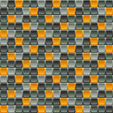 Seamless tile pattern made of rounded squares in shades of gray Royalty Free Stock Images