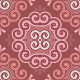 Seamless Tile Pattern in Marsala Colors Royalty Free Stock Images
