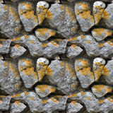 Seamless tile pattern of a stone wall Stock Photo