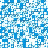Seamless tile pattern texture icon mosaic blue Stock Photos