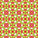 Seamless tile pattern in vivid festive christmas colors, kaleido. Seamless tile pattern background in vivid festive christmas colors, kaleidoscope style, xmas vector illustration