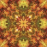 Seamless tile pattern in vivid warm colors. Seamless tile (fabric, wrapper) pattern in vivid warm colors Royalty Free Stock Photos