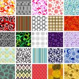 Seamless tile patterns. Golden collection of seamless wallpapers. Volume 1 Stock Photos