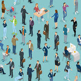 Seamless tile of people in the office office. Stock Images