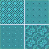 Seamless tile retro backgrounds. Collection of four seamless tile retro backgrounds royalty free illustration
