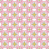 Seamless tile stars swirls pattern Stock Images