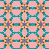 Seamless tile. Seamless texture with symmetrical geometrical elements. Abstract background for design and print. Multicolored tiles with abstract ornaments vector illustration