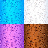 Seamless tile water drops Royalty Free Stock Photos